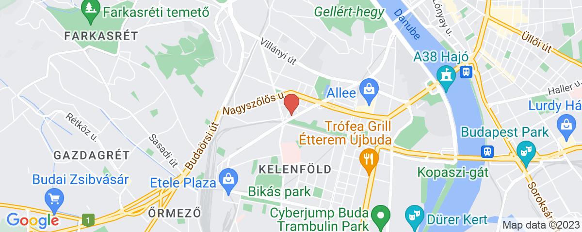 Google Map of Budapest, Bartók Béla út 101.