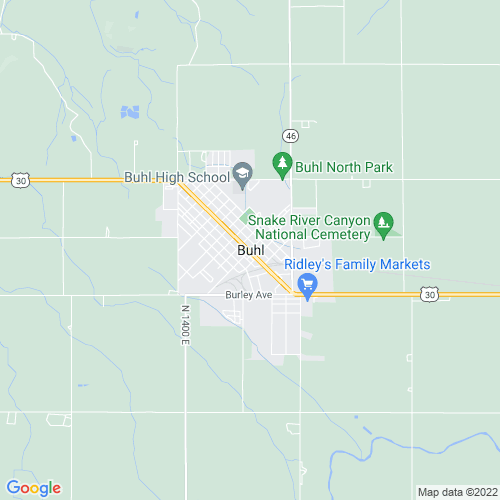 Map of Buhl, ID