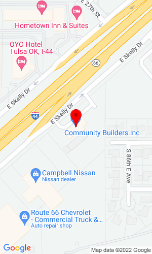 Google Map of Builders Service P.O. Box 580280 , Tulsa, OK, 74158