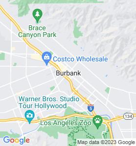 Burbank CA Map