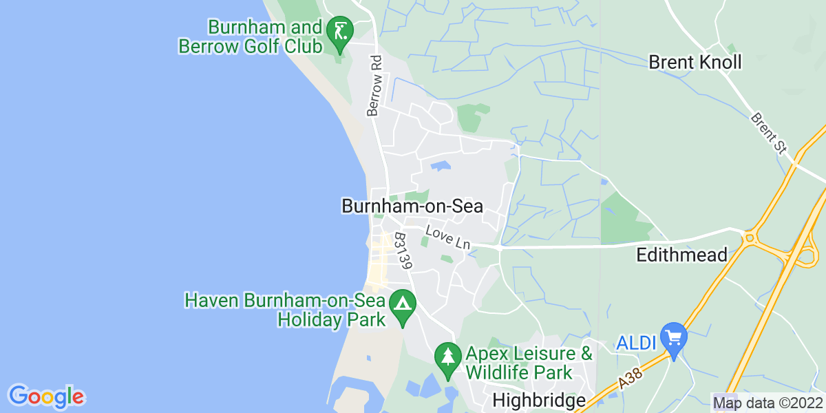 Map: Support Worker - position in Burnham-on-Sea