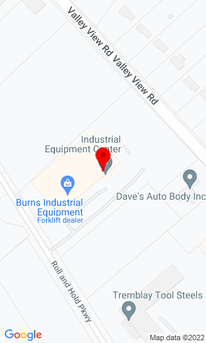 Google Map of Burns JCB 8155 Roll & Hold Parkway, Macedonia, OH, 44056