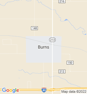 Burns WY Map