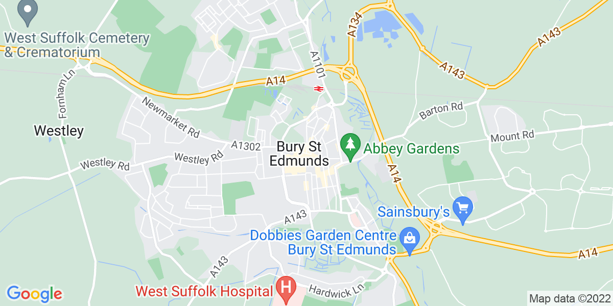 Map: IT Support Desk Analyst job in Bury St. Edmunds