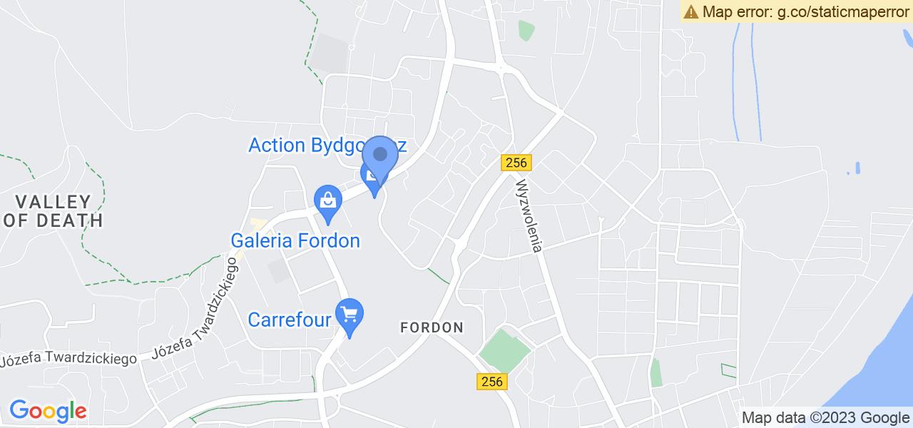 Jedna z ulic w Bydgoszczy – Górskiego Ochotniczego Pogotowia Ratunkowego i mapa dostępnych punktów wysyłki uszkodzonej turbiny do autoryzowanego serwisu regeneracji