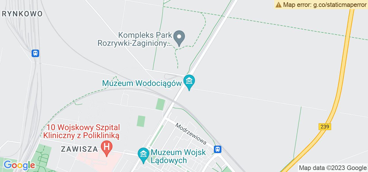 Jedna z ulic w Bydgoszczy – Gdańska i mapa dostępnych punktów wysyłki uszkodzonej turbiny do autoryzowanego serwisu regeneracji