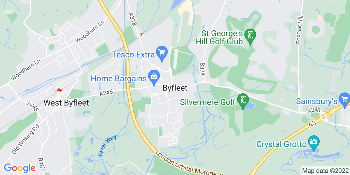 Map: Store Manager position in Byfleet