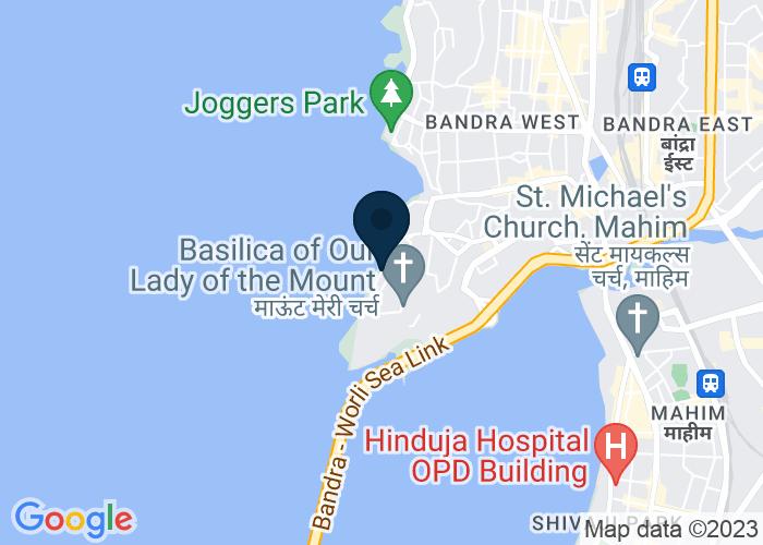 Map of Byramji Jeejeebhoy Road, Mumabi, India