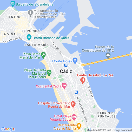Mapa redondo Cádiz