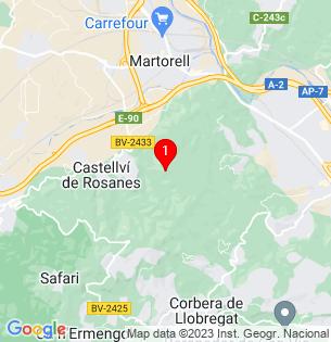 Google Map of CASTELL DE SANT JAUME, Castellvi de Rosanes, BARCELONA, Spain