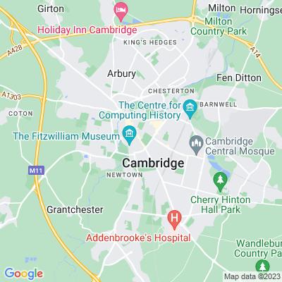 Downing College, Cambridge Location