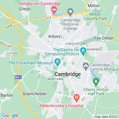 Christ's College, Cambridge Location