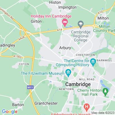 New Hall, Cambridge Location