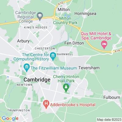 Coldhams Common, Cambridge Location
