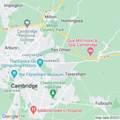 Newmarket Road Cemetery, Cambridge Location
