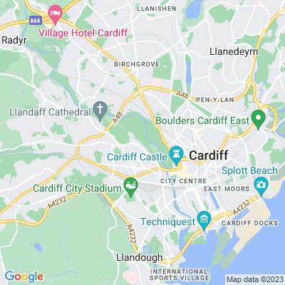 Pontcanna Fields & Llandaff Fields Location