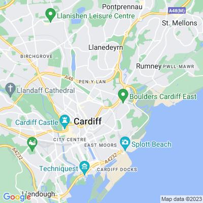 Waterloo Gardens & Roath Mill Gardens Location