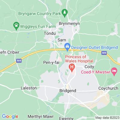 Glanrhyd Hospital Location