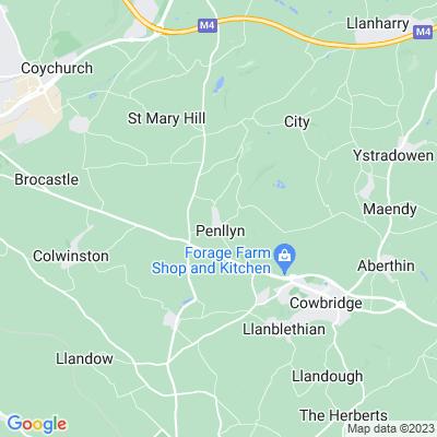 Penllyn Castle Location