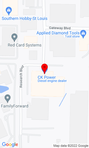 Google Map of CK Power 1100 Research Blvd, St. Louis, MO, 63132