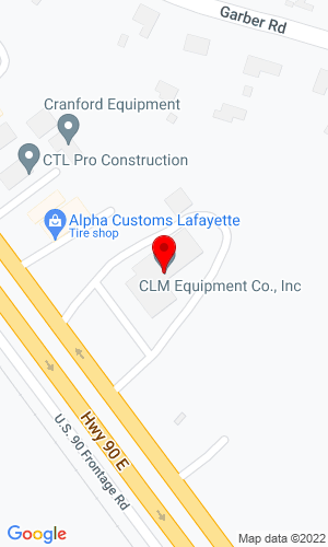 Google Map of CLM Equipment Company 3135 US HWY 90 East, Broussard, LA, 70518