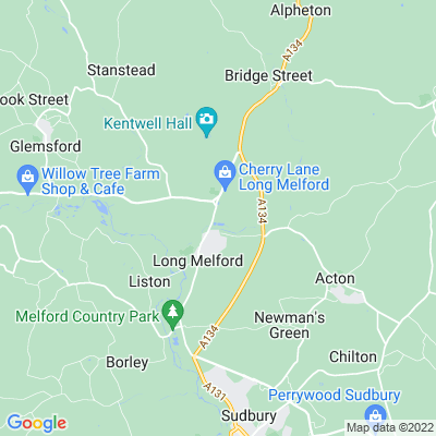Melford Hall Location