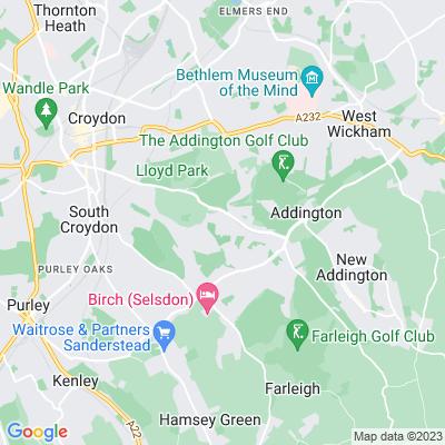 Heathfield, Croydon Location