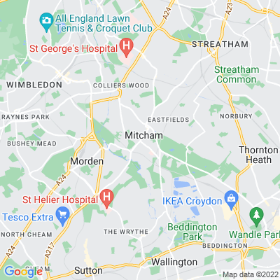 Mitcham Greens (Fair Green, Three Kings Piece, Cranmer Green/Piece, Cricket Green, Lower Green, Vestry Hall Green) Location
