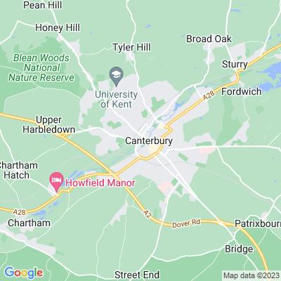 Westgate Gardens, Canterbury Location