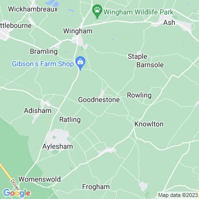 Goodnestone Park, Woodland Garden Location
