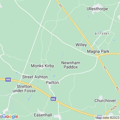 Newnham Paddox Location
