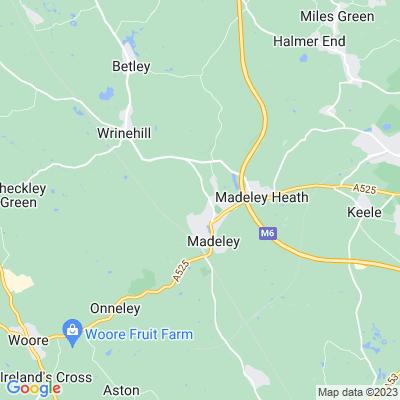 Wrinehill Hall Location