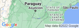 Caazapá map