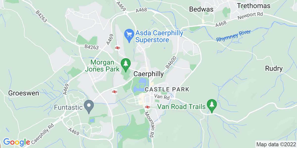 Map: Management Accountant  role in Caerphilly