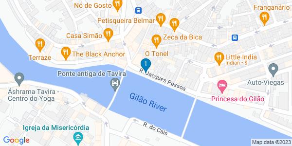 Google Map of Café 22, Rua Jacques Pessoa 22 8800-350 Tavira,