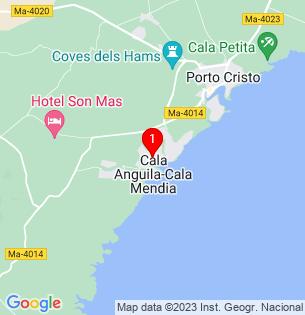 Google Map of Cala Mendia, Baleares, Spain