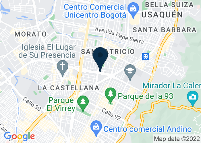 Map of Calle 100 No. 18A - 30, Bogota, Columbia