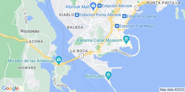 Google Map of Calle+Balboa%2C+Ciudad+de+Panam%C3%A0%2C+Panama
