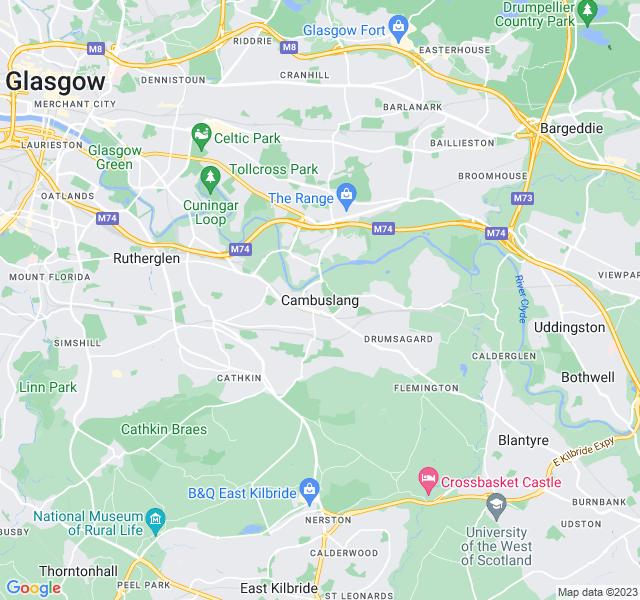 Website Designer Cambuslang Google map of location