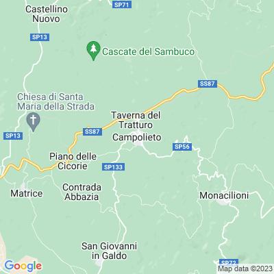 cartina Campolieto