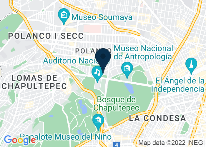 Map of Campos Eliseos 218 Col Polanco, Mexico City, OH 11560, Mexico