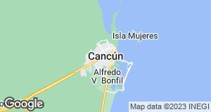 Map of Cancun, Quintana Roo