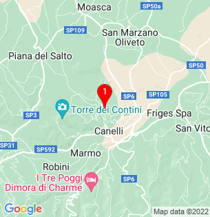 Google Map of Canelli, Piedmont, Italy
