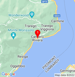 Google Map of Cannero Riviera, Lombardy, Italy