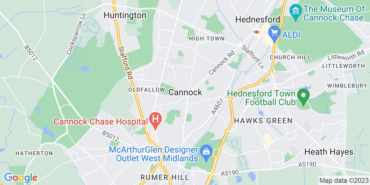 Map: Software Developer - .Net job in Cannock