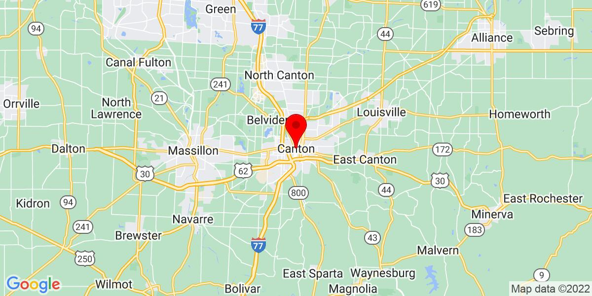 Google Map of Canton, OH