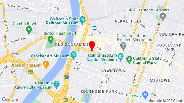 Google Map of Capitol Mall and 5th St., Sacramento, CA 95814