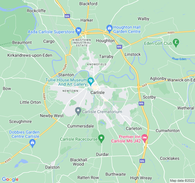 Website Designer Carlisle Google map of location