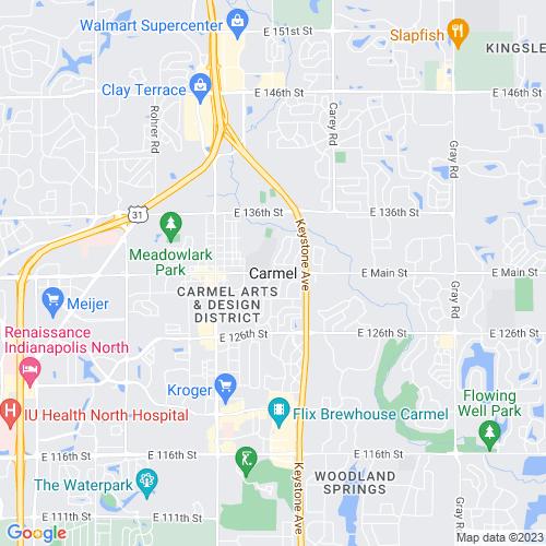 Map of Carmel, IN