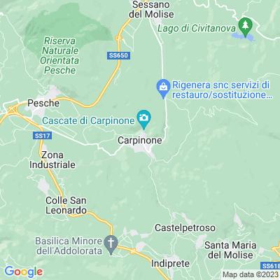 cartina Carpinone